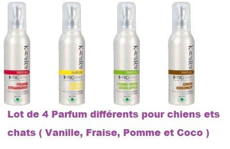 Lot de 4 parfums pour Chiens et Chats