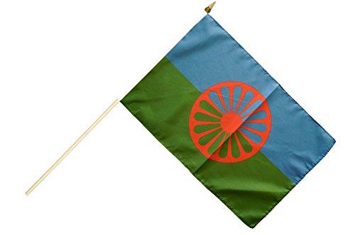 Flaggenfritze® Stockflagge Sinti und Roma - 30 x 45 cm