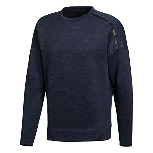 adidas M Zne Crew Sweatshirt für Herren L Blau (zne Htr / Legend Ink)