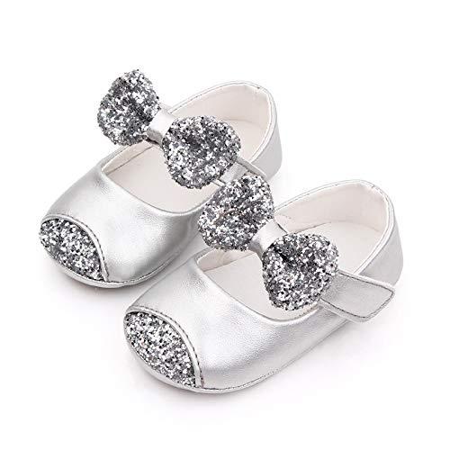 NBAA Neugeborene Kleinkind Bowknot Lederschuh Soft First Walking Princess Schuh Säuglings Kinder Mädchen Magische Aufkleber Weiche Sohle Schuhe
