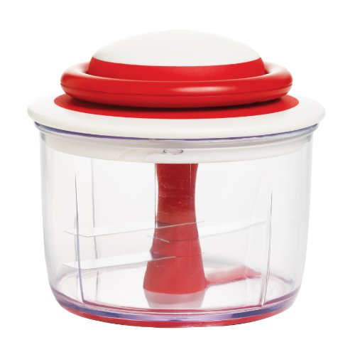 Chef'n VeggiChop Hand-Powered Food Chopper, Set of 1, Cherry
