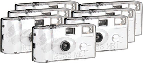 Topshot Kiss Me Einwegkamera / Hochzeitskamera 400/27 Flash (27 Fotos, Blitz, 6+1 Pack)