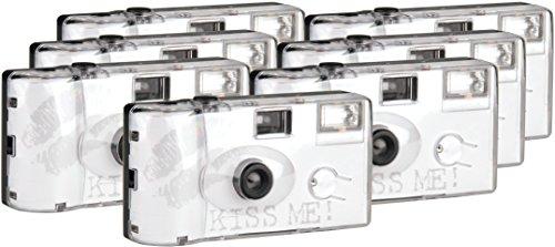 TopShot Kiss Me–Fotocamera usa e getta per nozze 400/27Flash (27foto, flash, 6+ 1pack)