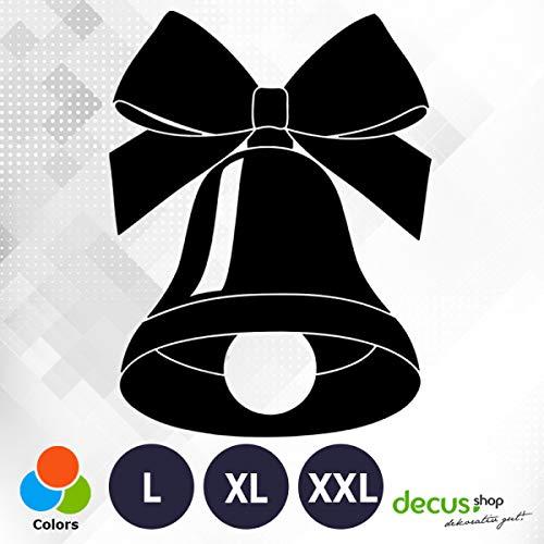 Decus Weihnachten Glocke Schleife XXL 2668 (schwarz matt) // Sticker OEM JDM Style Aufkleber