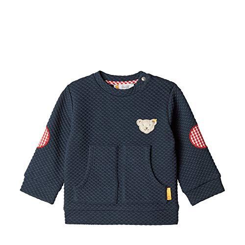 Steiff Baby - Jungen Sweatshirt , Blau (PATRIOT BLUE 6033) , 74 (Herstellergröße:74)