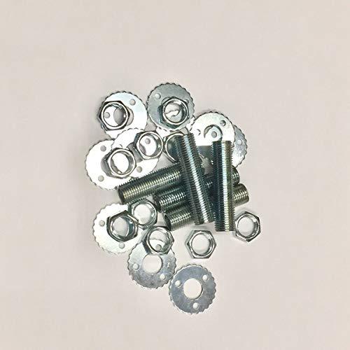 Kit de 5 tubos de eje roscado 10 x 1 L. 40 mm más 10 tuercas más 10 arandelas moleteadas, repuesto para lámparas y arañas