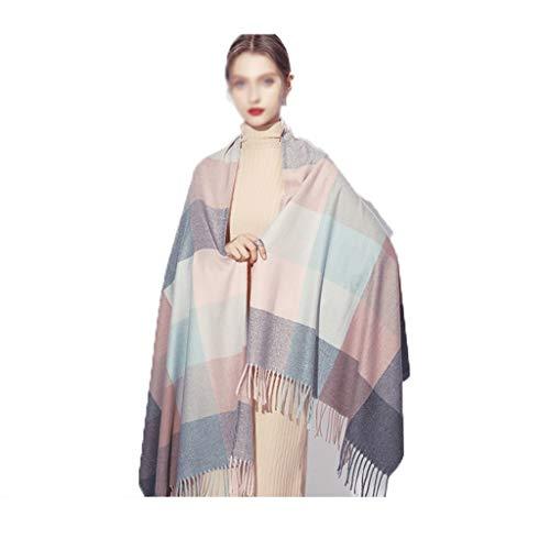 Xu Yuan Jia-Shop Moda Bufanda Chal Bufanda de Lana Mujer otoño e Invierno a Cuadros Grandes mantón Bufanda Caliente británica de la Borla del Viento de la Bufanda Manta Bufanda acogedora (Color : F)