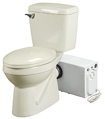Bathroom Anywhere Macerating Toilet System, Includes Toilet and Pump