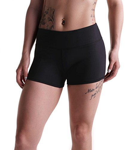Tough Mode Womens 3' Compression WOD Athletic Shorts Yoga Volleyball Crossfit Running MMA Active...