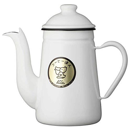 カリタ Kalita コーヒーポット ホーロー製 コーヒ-達人 ペリカン 1L ホワイト #52125
