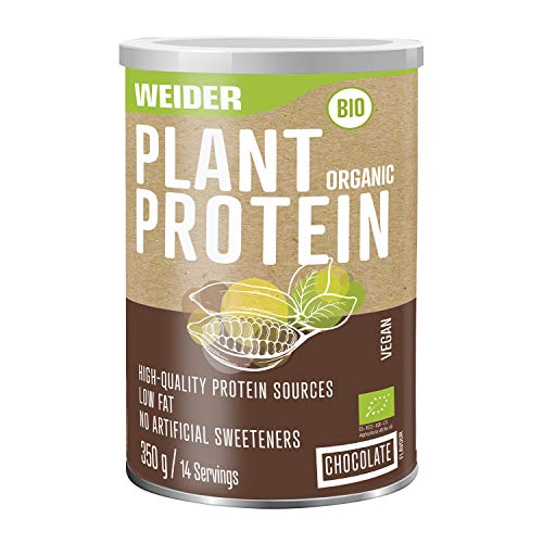 Weider Plant Organic Protein, Chocolate, Organic, Without Artificial sweeteners, 100% Natural, no GMO, 350g