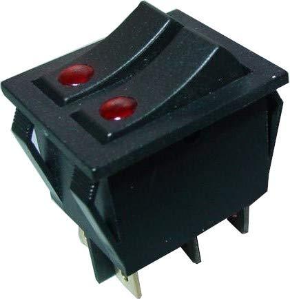Doppel Wippenschalter, Wippschalter, 2-polig EIN/AUS, beleuchtet, 250V/15A, S139