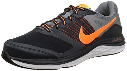 Nike - Dual Fusion X - Color: Grey-Navy blue-Orange - Size: 10.0