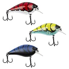 3-PACK BUNDLE: This 3-pack bundle includes three Bubonic BUGZ squarebill crankbaits each one of the most popular colors including Boiled Bug Chrome, Blue Bug, and Gamma Bug. REVOLUTIONARY PRINTING TECHNOLOGY: True-to-form representation of Chris Grou...
