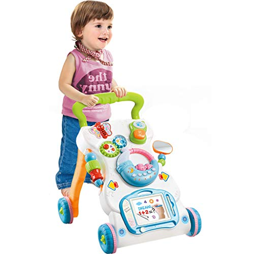 Fantastic Deal! Fine Early Learning Walker for Baby, Multifunctional Push Pull Toys with Music Activ...
