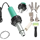 Go2Home 1600W Plastic Welder Hot Air Gun Torch Welding Heat Gun Handhold Rod with Speed Nozzles Pistol Hot Gas Pistol