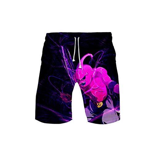 BOBD-DW Dragon Ball Herren Badehose Block Swim Shorts Badeshorts Männer-Badehose In Vielen Farben Surf Shorts Mit Mash-Innenfutter S