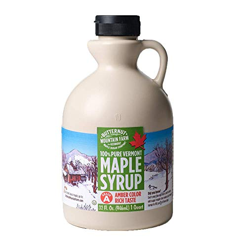Butternut Mountain Farm Vermont, 100% Pure Maple Syrup Vermont, Grade A, Amber Color, 1 Qt