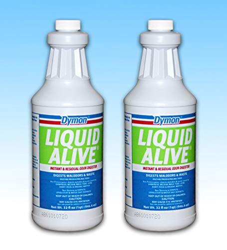 Premium Liquid Alive Odor Cleaner 1 QT [Set of 2 Bottles]