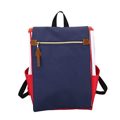 XHHWZB Mochila Casual Durable Mochila Escolar Mochila Impermeable de Nylon Daypack para IR de Compras Al Aire Libre Senderismo para Mujeres Dama Niñas 15 Pulgadas Rosa (Color : Azul)