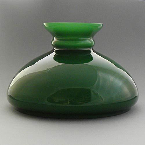 Vestaglas grün, Durchmesser 23,0 cm, Ersatzglas für die Petroleumlampe, Lampenglas, Lampenschirm aus Glas für die elektrische Tischleuchte