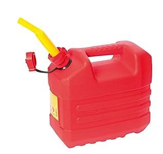 Eda Plastiques bidón de Gasolina de plástico, Color Rojo, plástico, Rojo, 10 l
