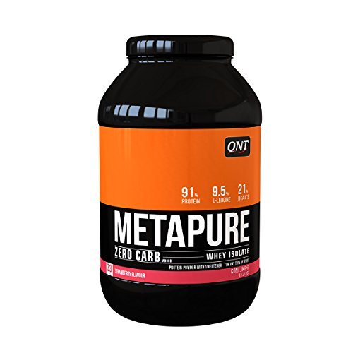 QNT Metapure Zero Carb Whey Isolate Supplement, Strawberry
