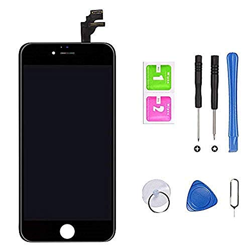 Hoonyer Pantalla para iPhone 6 Pantalla táctil LCD Kit de Pantalla de Repuesto Ensamblaje de Marco Digitalizador Herramienta de reemplazo de conversión Completa(4.7
