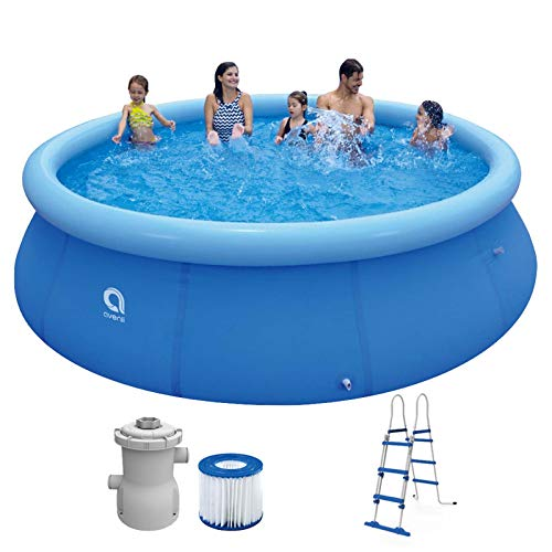 Swimming Pool Set mit Filterpumpe und Leiter 366 x 91 cm