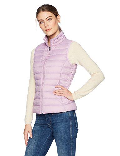 Amazon Essentials Women's Lightweight Water-Resistant Packable Down Vest, Purple, Small