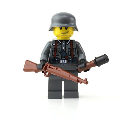 Battle Brick German Kar98 WW2 Soldier Custom Minifigure