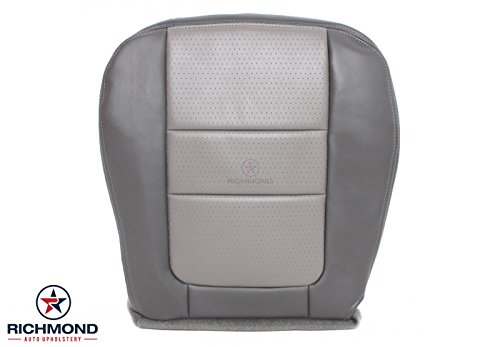 Richmond Auto Upholstery Compatible with 2001 Ford F-250 Platinum Edition Ultra Leather Seat Cover: Driver Bottom, 2-Tone Gray