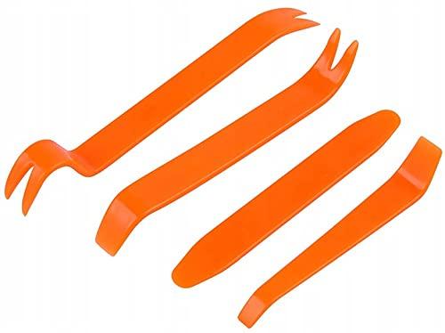 Un juego de cuchillas, extractores para desmontar plásticos en el coche, tapicería, clip (juego de 4 piezas)