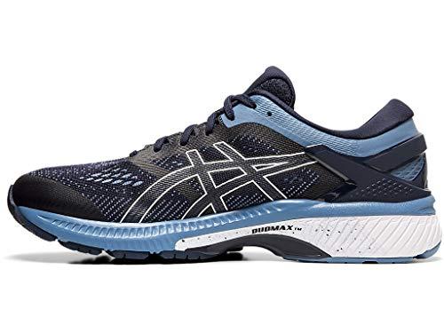 ASICS Men's Gel-Kayano 26 (2E) Running Shoes, 10W, Midnight/Grey Floss 3