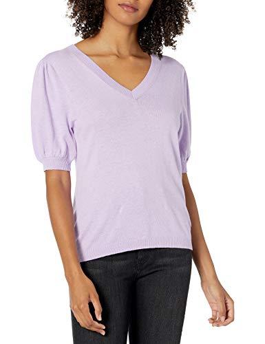 Marque Amazon - Cindy T-shirt à Manches Courtes Bouffantes pour Femme, Encolure Ras-du-cou par The Drop