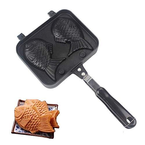 Casserole antiadhésive de fabricant de gâteau, moule de cuisson de gaufres d'alliage d'aluminium, bricolage de conception de forme de poisson pour la cuisson, le petit déjeuner, la cuisine, le cadeau