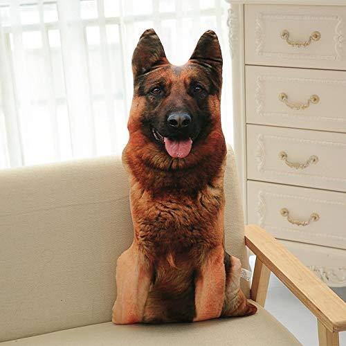 Almohada para Perros simulación 3D Shapi Perro Manchado cojín de Felpa Perro Dorado Almohada Animal decoración del hogar colección de Juguetes