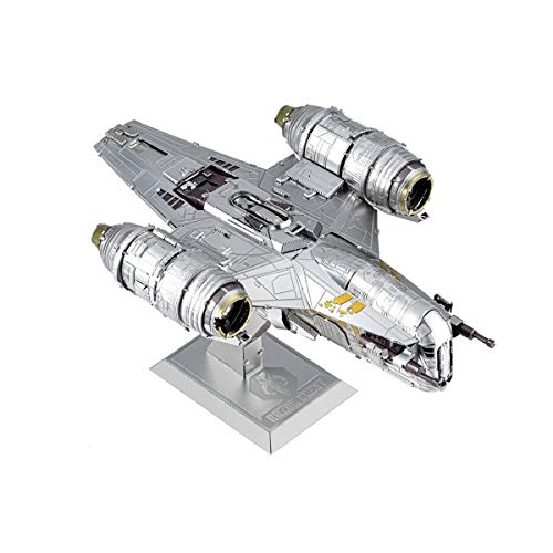Fascinations ICX217 ICONX 502948 Star Wars The Mandalorian Razor Crest™ - Juego de construcción en 3D (cortada a láser, 2,5 placas de metal)