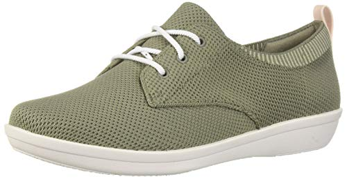 Price comparison product image Clarks Women's Ayla Reece Sneaker,  dusty olive knit,  8.5 M US