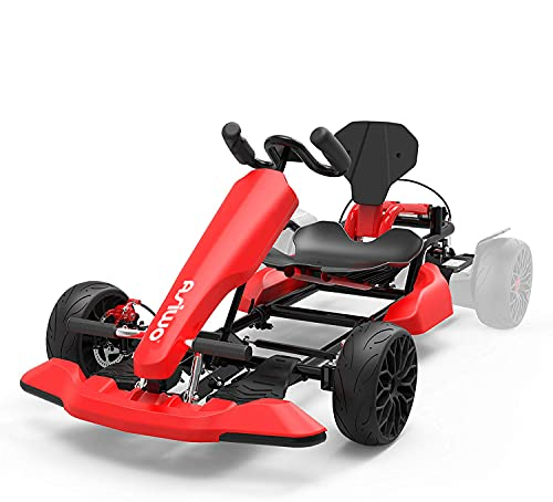 Asiwo Hoverkart, Asiento Kart Compatible con Todos los Patinetes Eléctricos (Rojo)