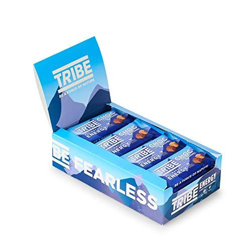 TRIBE Natural Energy Bar - Choc Salt Caramel - Vegan, Gluten & Dairy Free (16 x 50g)