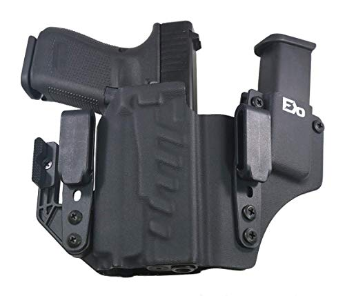 FDO Industries -Formerly Fierce Defender- IWB Kydex Holster Compatible with Glock 19 23 32 w/PL Mini 2 - +1 Series w/Claw -Made in USA- (Black)