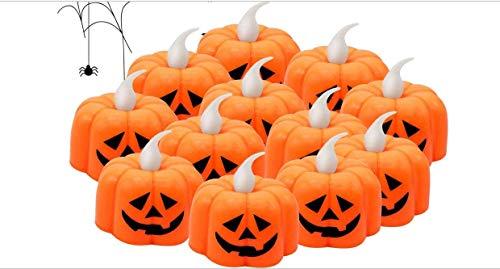 Keilafu batería de calabaza, iluminar la calabaza, Decoraciones para decoraciones de Halloween, favores de fiesta interiores y exteriores, incluye linterna de calabaza, lámpara fantasma, telaraña