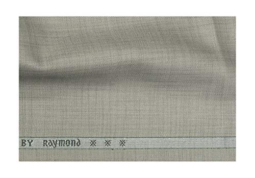 Raymond Men's Unstitched 3 m Solid Suit Fabric (Grey, Free Size)