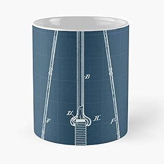 Te-sla Energy Transmitter Blueprint Classic Mug Coffee Tea - 11 Oz Mugs Unique Ceramic Novelty Cup, The Best Gift For Holidays