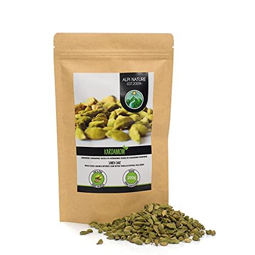 Cardamomo entero (200g), semillas de cardamomo 100% naturales, semillas de