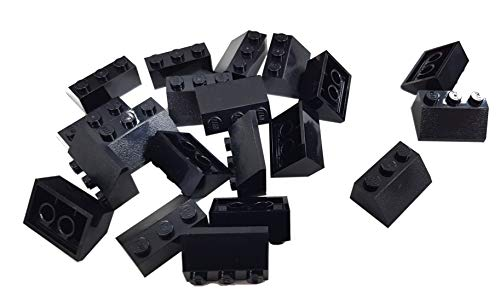 LEGO Bricks 3038 City - Ladrillo Teja (2 x 3 pivotes, 20 Unidades), Color Negro