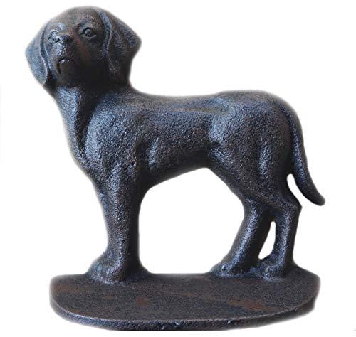 Lulu Decor, Cast Iron Decorative Dog Door Stopper, Doorstops, Weight 2.20, Size 6.50' (Cute)
