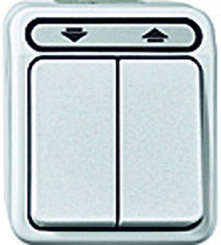 Merten Rolladenschalter MEG3715-8019 1polig Rollladenschalter, 1-polig, polarweiß, AQUASTAR