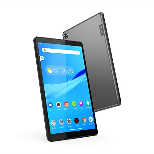 "Lenovo Tab M8 Tablet, 8"" HD Android Tablet, Quad-Core Processor, 2GHz, 16GB Storage, Full Metal Cover, Long Battery Life, Android 9 Pie, ZA5G0102US, Slate Black"